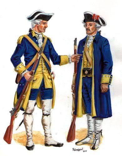 Regimientos de Infantería ligera catalana en 1784