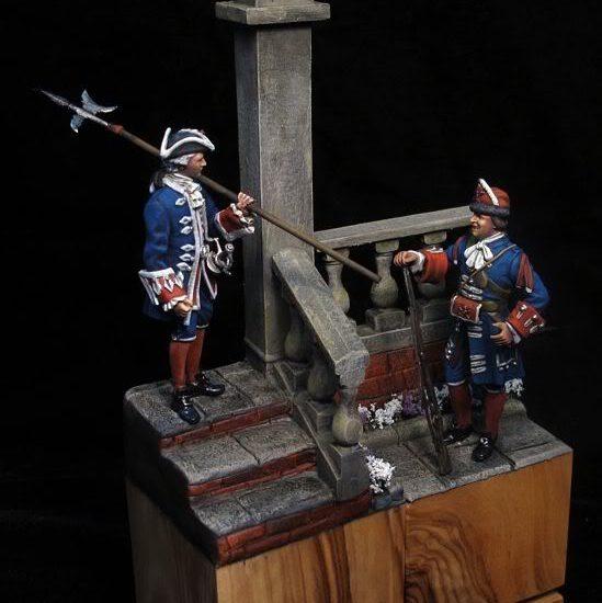 Alabardero y Granadero de la Guardia Real