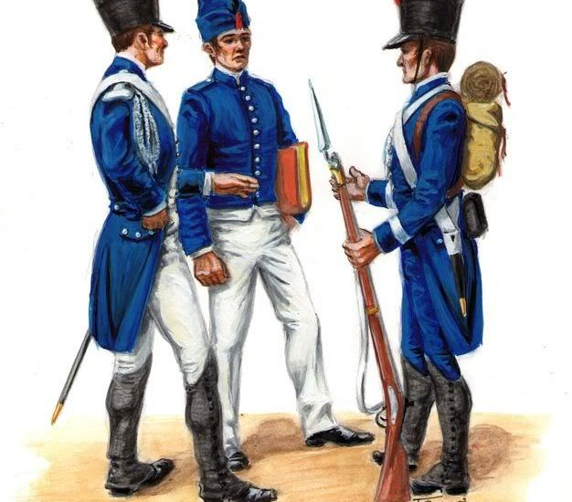 El Batallón de cadetes reunidos del sexto ejército