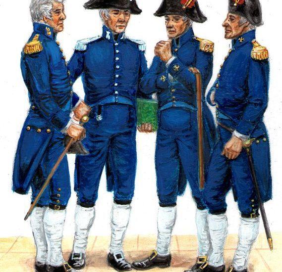 El uniforme de los Oficiales retirados (1803)