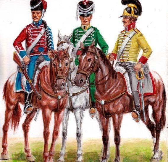 Regimientos de Dragones, Cazadores y Húsares en el reinado de Fernando VII (1815)