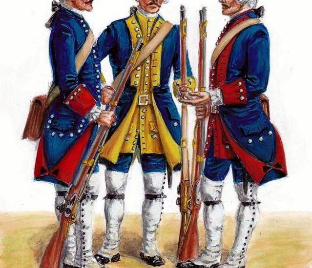 Los Regimientos suizos (1749 – 1755)