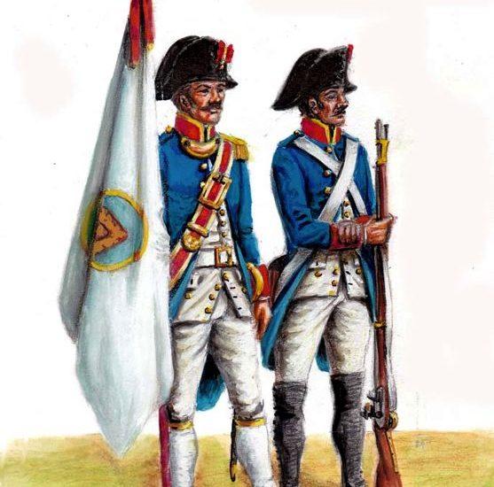 1796. Milicias del Gremio de azogueros de la Real Villa de Potosí