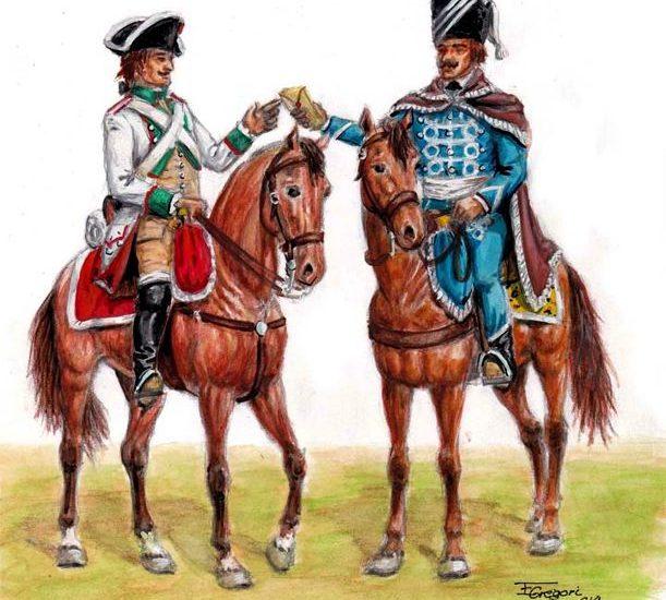 1796. Uniformes de la Caballería