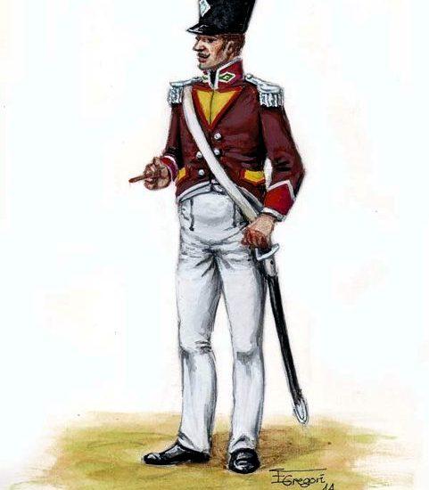 1812. Cazadores Voluntarios Distinguidos de Cádiz