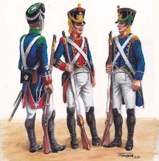 Actualización www.losejercitosdelrey.es – 1818. La Infantería