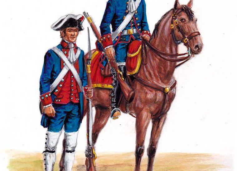 1792. Las tropas de guarnición del Reino de Chile