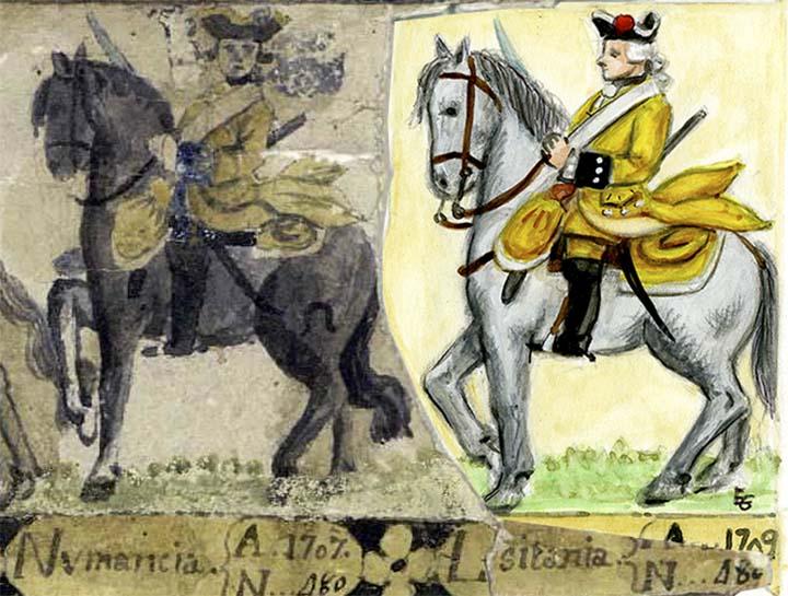Un Estado militar gráfico en la Biblioteca Nacional (1769)