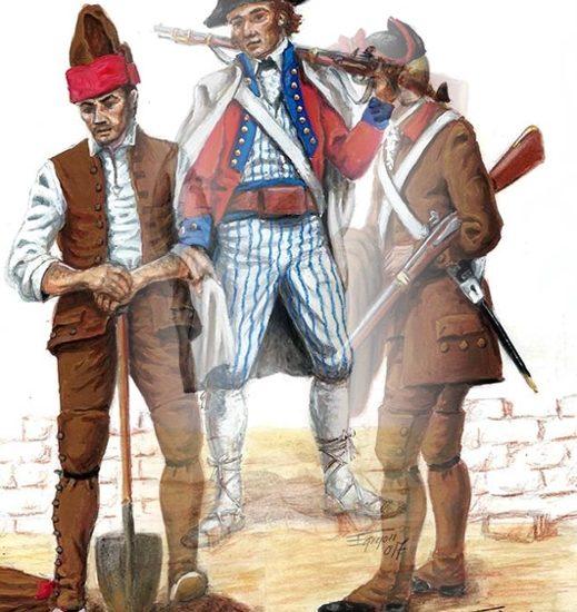 Los desterrados a los presidios de África (1793) – La Infantería ligera de Cataluña (1792)