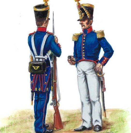 La reorganización del Ejército 1828. La Infantería