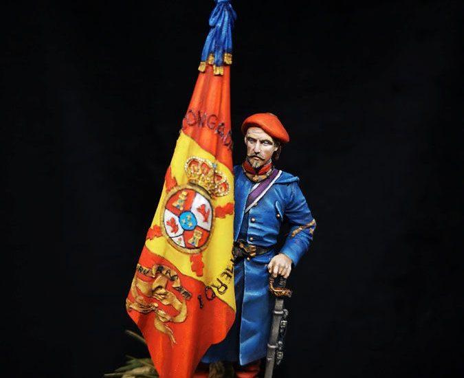 División Vascongada. Abanderado del Tercio nº 1 (Álava)