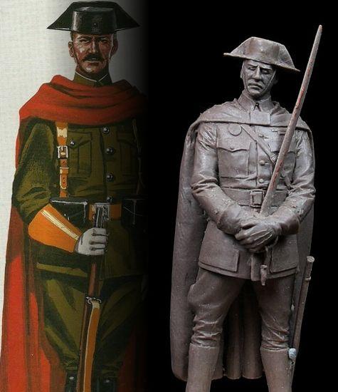 Oficial de la Guardia Civil de la escolta del General Franco, 1937 – (I)