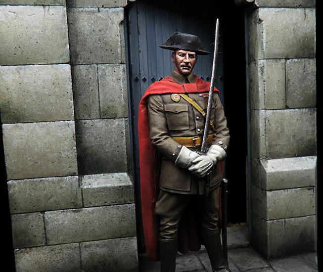 Oficial de la Guardia Civil de la escolta del General Franco, 1937 (II)