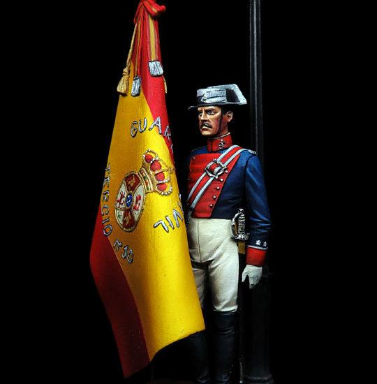 Teniente Abanderado 10º Tercio Guardia Civil. 1912