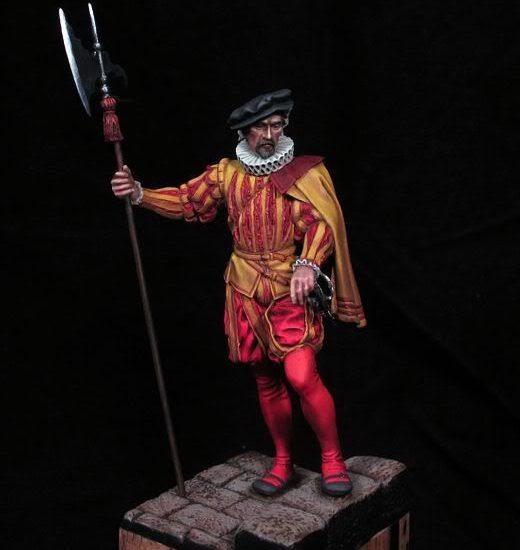 Alabardero Carlos I. Guardias españolas.