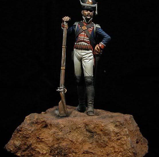 Sargento de Cazadores de la Guardia Walona, La Albuera 1811