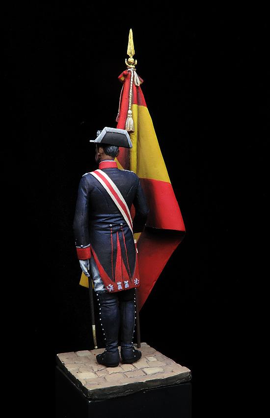 Oficial abanderado en uniforme de gala, 1911