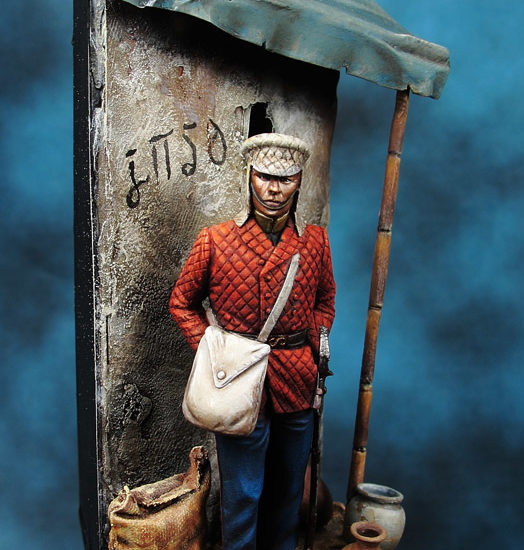 Officer, 29th Foot. India 1849