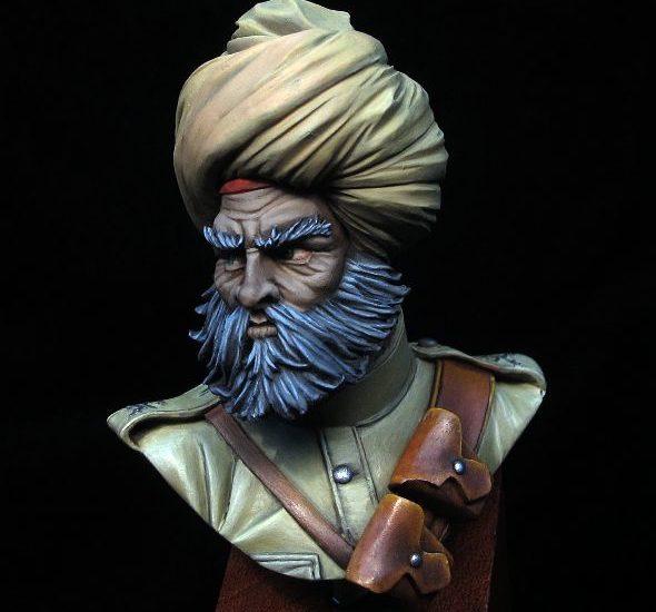 Busto Sikh. Ejército Indio 1914 (y II)
