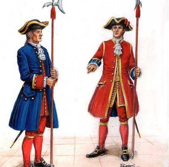 Compañía de Guardias Alabarderos en 1719