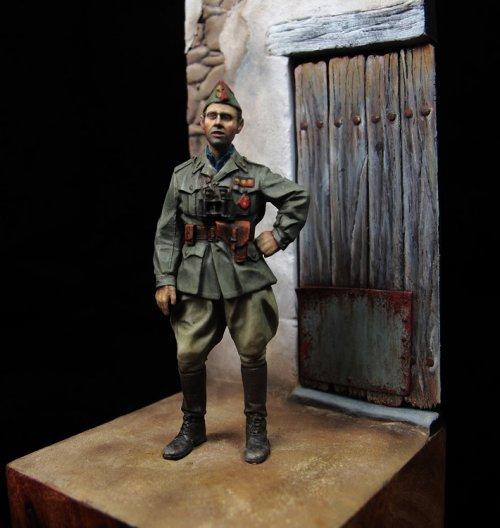 Capitán habilidado de artillería, Ejército Nacional, 1937