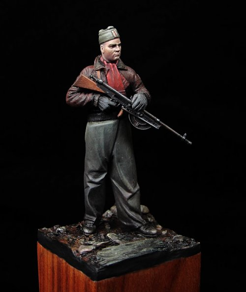 Sargento de la Brigadas Internacionales, 1937