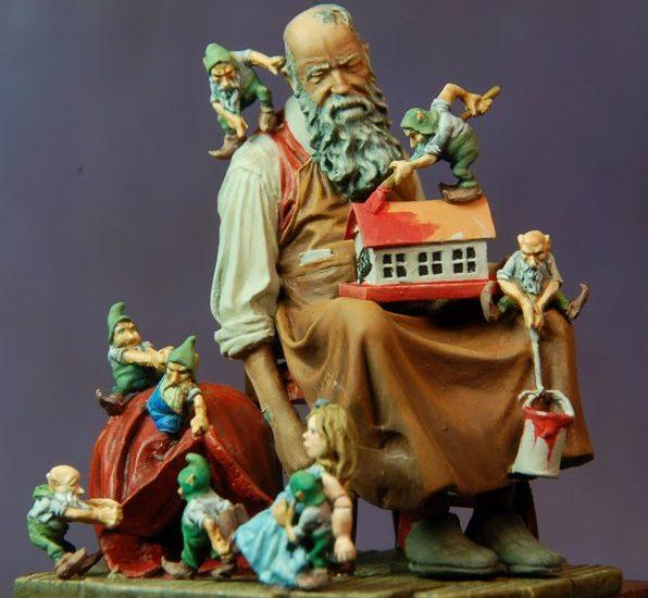 Papa Noel listo para entregar