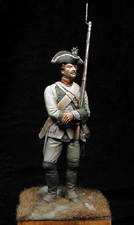 Fusilero, Regimiento Wied - Austria 1760