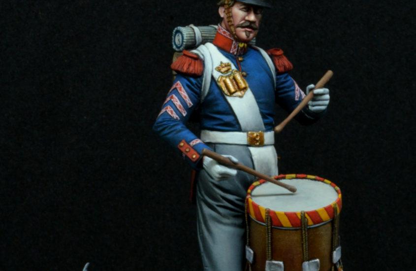 Tambor Rgto. Infantería «Principe» nº 3, 1853