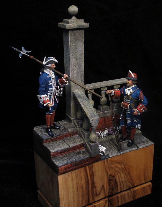 Alabardero y granadero de Felipe V, 1700-1746