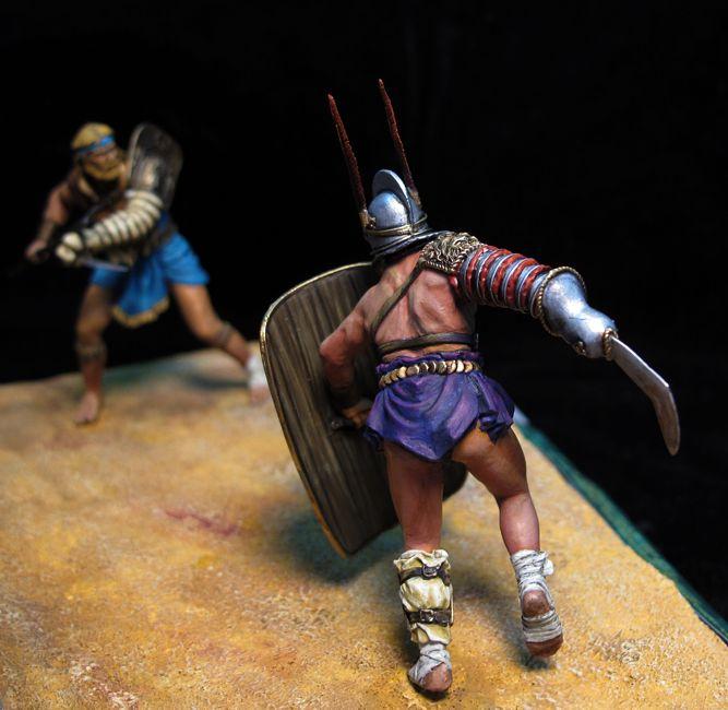 Retiario frente a Hoplomacus-Secutor, 78 AD