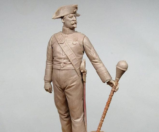 Tambor Mayor de Alabarderos . Uniforme de diario. 1908