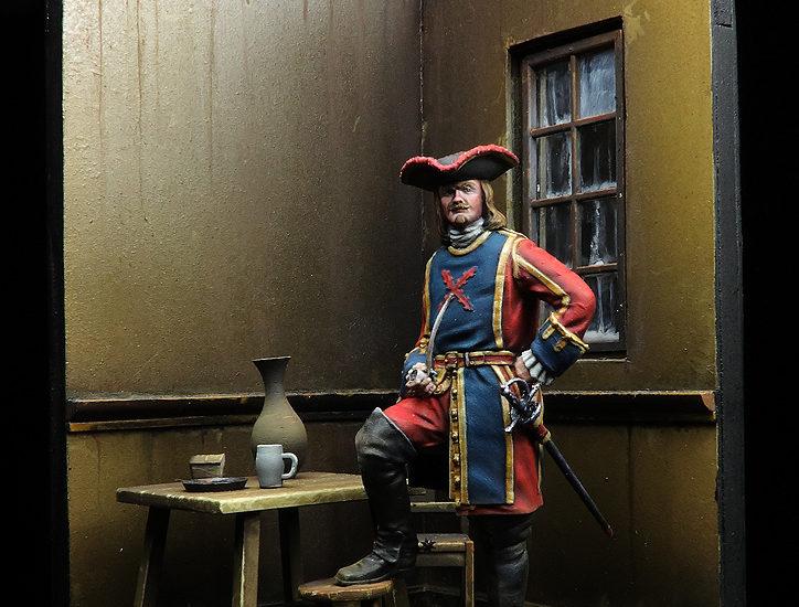 Mosquetero de la Guardia del Rey, 1704
